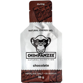 Chimpanzee Energy Gel Sports Nutrition Chocolate with Himalaya Salt (Vegan) 25 x 35g